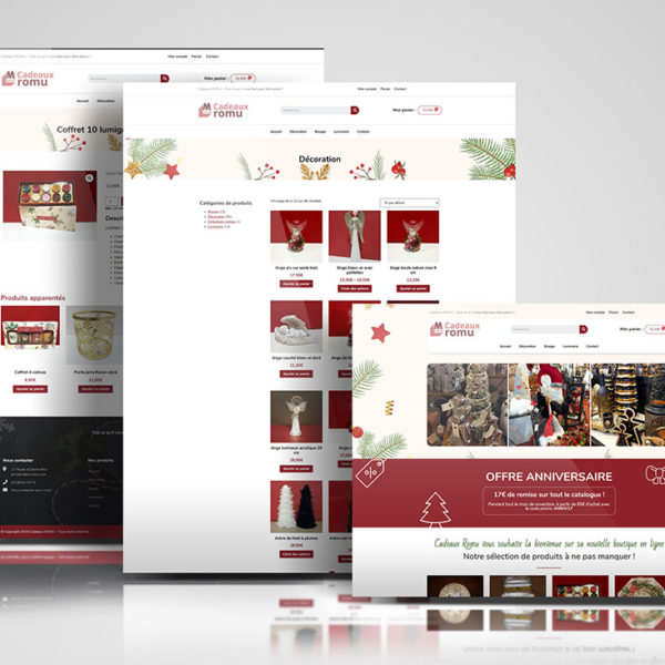 site click collect web ecommerce cadeaux Romu Bischwiller