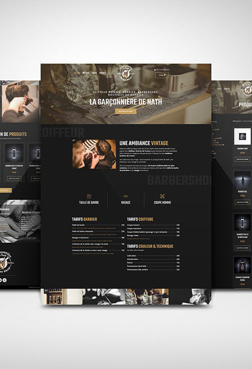 site internet e-commerce barbershop barbier coiffeur boutique