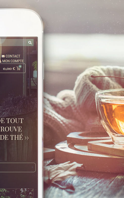 Version mobile site e-commerce vente de thé